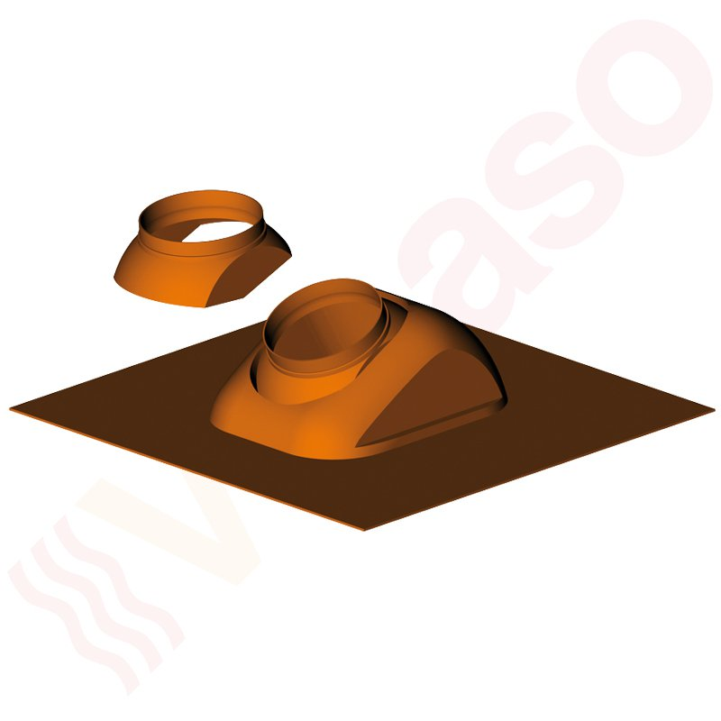 almeva abgassystem dachpfanne mit bleisch rze 5 25. Black Bedroom Furniture Sets. Home Design Ideas