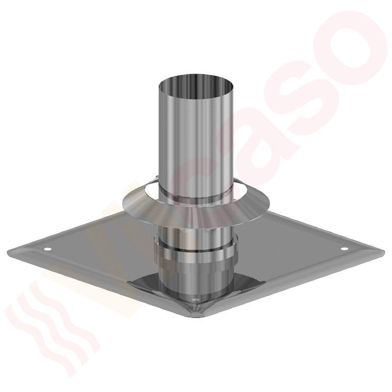 almeva abgassystem kaminabschluss mit kragen dn 80 edelstahl preisg nstig. Black Bedroom Furniture Sets. Home Design Ideas