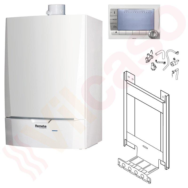 paket gas brennwerttherme remeha calenta 25 ds 5 6 25 5 kw ohne speicher. Black Bedroom Furniture Sets. Home Design Ideas
