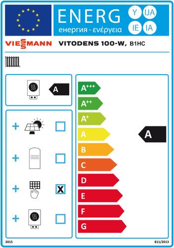Energielabel Viessmann Vitodens 100-W