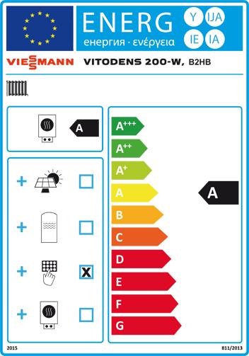 Energielabel Viessmann Vitodens 200-W