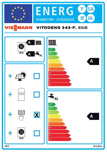 Energielabel Viessmann Vitodens 343-F