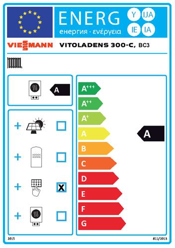Energielabel Viessmann Vitoladens 300-C
