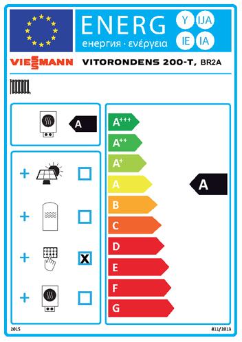 Energielabel Viessmann Vitorondens 200-T